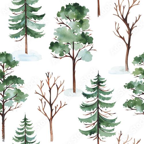 akwarela-zimowy-krajobraz-z-drzewa-sosny-i-drzew-iglastych-bez-szwu-tla-idealny-do-projektowania-okladek-i-opakowan-tapet-druku-tekstyliow-i-wielu-innych
