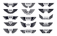Wings Badges. Flying Emblem, E...