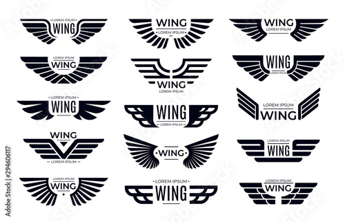 Wings badges фототапет