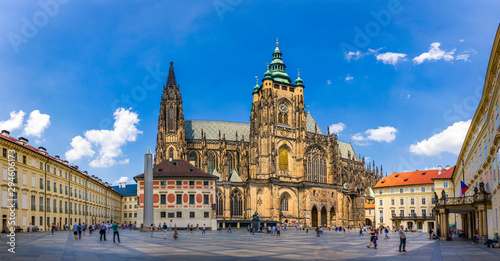 Prague, bell gothic towers and St Wallpaper Mural