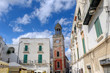 The Clock Tower in the Old Town of Noci, Puglia, Italy