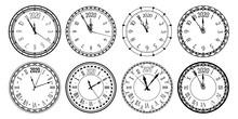 Round 2020 Clock. New Year Cou...