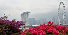 Singapore Skyline With Marina...