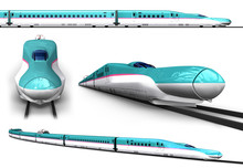 Super High-speed Train Illustr...