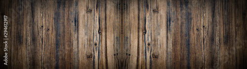 old brown aged rustic wooden texture - wood background panorama banner long - 294612917