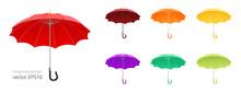 Open Umbrella Cane. Vector Col...