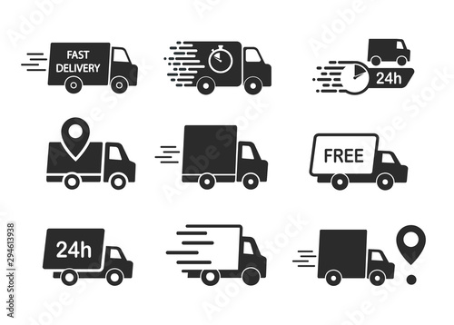 Fotografiet Set of delivery icons