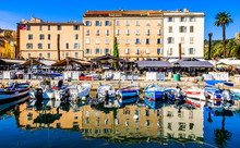 Old Town And Harbor Of Ajaccio On Corsica