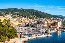Old Town And Harbor Of Bastia On Corsica