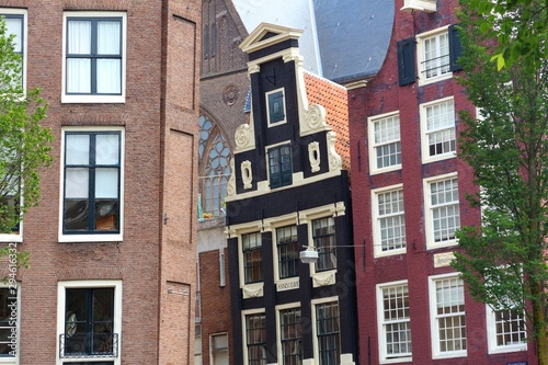 Photo Amsterdam crooked buildings
