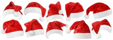 Set Of Red Christmas Santa Cla...