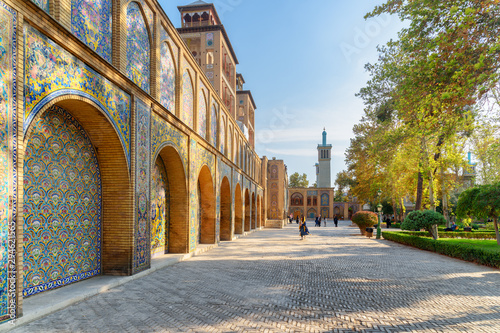 Wonderful view of courtyard and garden at the Golestan Palace
