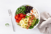 Ketogenic Lunch Bowl: Spiraliz...