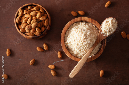 almond flour. healthy ingredient for keto paleo gluten-free diet Wallpaper Mural