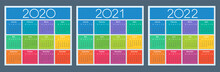 Colorful Calendar For 2020, 20...