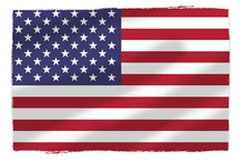 Flaga USA Naniesion Na Pomarsz...