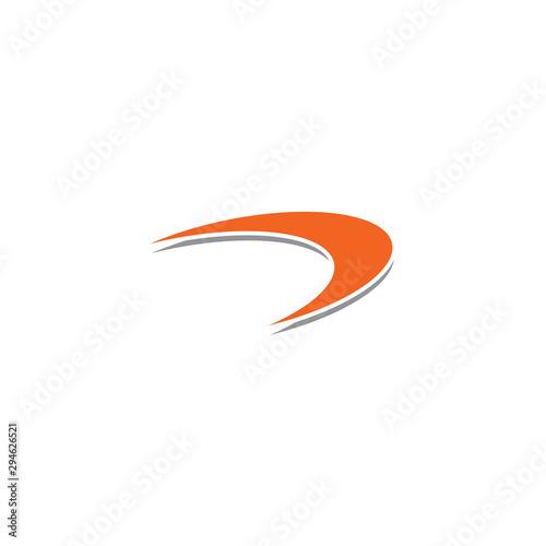 Boomerang weapon icon logo design vector template Wallpaper Mural