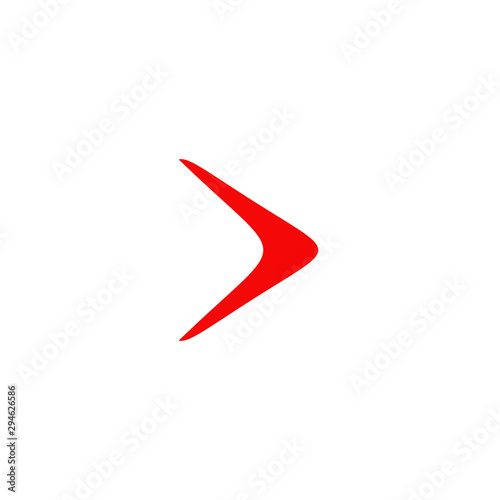 Photo Boomerang weapon icon logo design vector template