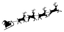 Santa's Sleigh Silhouette
