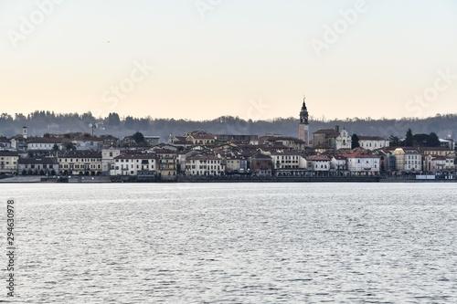 view of the city oleggio angera bergamo north italy , digital image picture Fototapeta