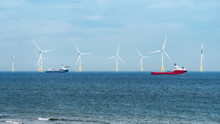 Offshore Wind Turbine Farm On ...