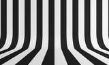 Streszczenie tło z czarno-białą linią. Renderowanie 3d