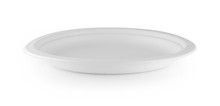 Paper Plate On White Background