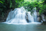Beautiful waterfall Huai Mae Khamin at Kanchanaburi Province in west Thailand.
