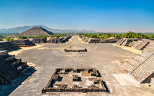 Avenue Of The Dead At Teotihuacan In Mexico