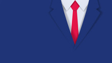 Close Up Of Businessman Blue S...