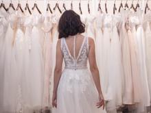 Bride Chooses Wedding Dress In...