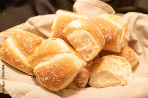 dinner rolls in a basket