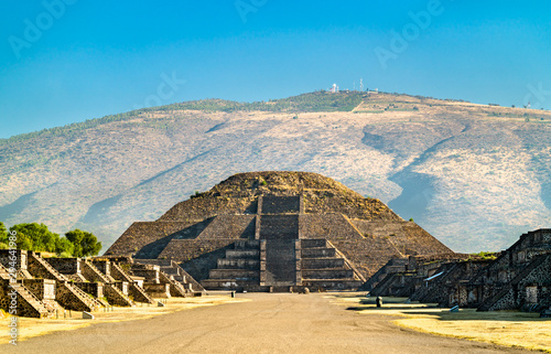 Garden Poster Old building Pyramid of the Moon at Teotihuacan in Mexico