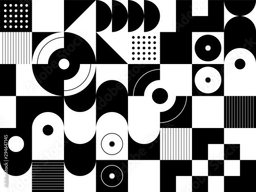 Geometry minimalist artwork poster with simple shape and figure Poster Mural XXL