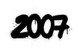 Fototapeta Młodzieżowe - graffiti number 2007 sprayed in black over white