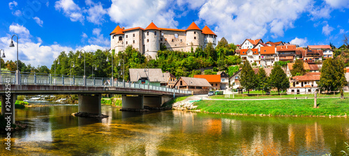 Beautiful romantic medieval castles of Europe - Zuzemberk in Slovenia