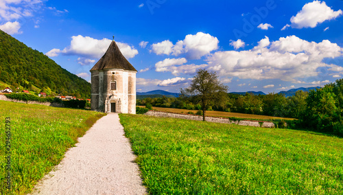 Soteska,Devils Tower,park pavilion,17th century,Krka River Valley, Slovenia