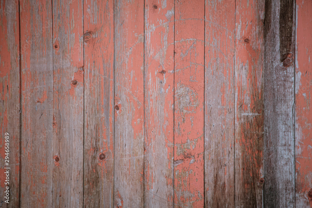 Fototapeta Old wooden boards on the fence as an abstract background