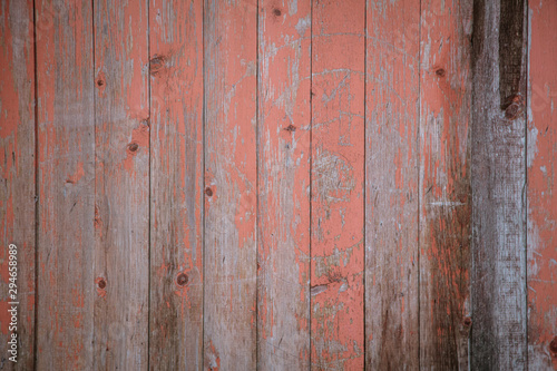 Old wooden boards on the fence as an abstract background - 294658989