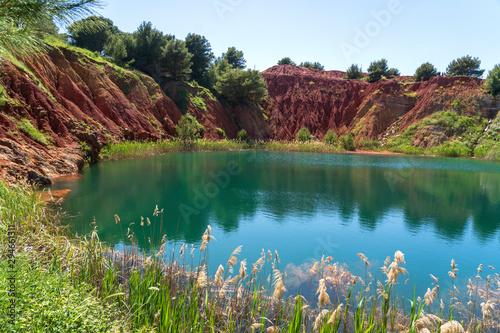 Bauxite Quarry Lake in Otranto, Puglia, Italy Canvas Print