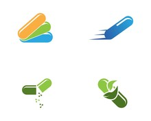 Capsule Health Medical Icon An...