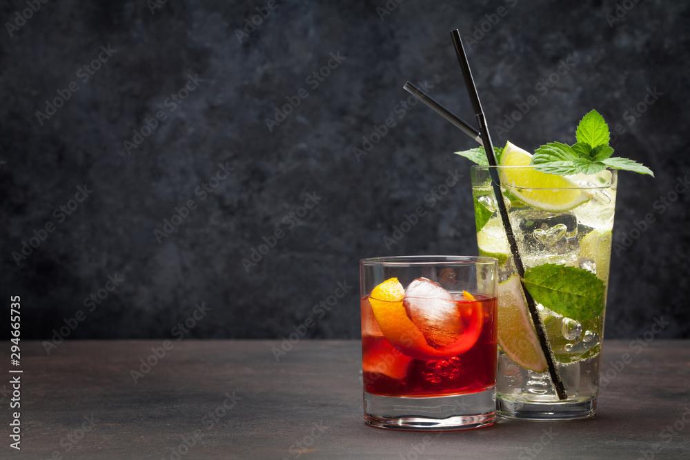 Fototapeta Two cocktail glasses