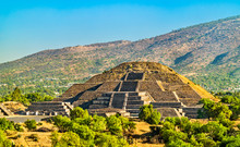 Pyramid Of The Moon At Teotihuacan In Mexico
