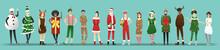 Merry Christmas , Group Of Tee...