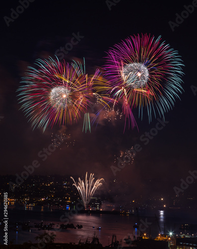 Colorful fireworks to celebrate the special occasions like New Year or Independence Day
