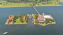 Aerial View Of Ellis Island, N...