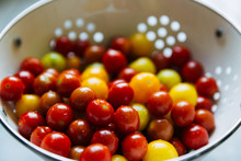 Tomatoes In A Colander After Washing