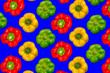 canvas print picture - Paprika, pattern, background, texture