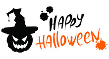 Happy Halloween Lettering And ...