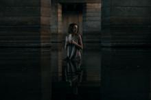 Girl At Water Under Bridge